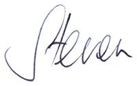 Steven's signature